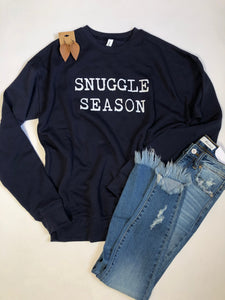 Snuggle season-Navy-Sweatshirt
