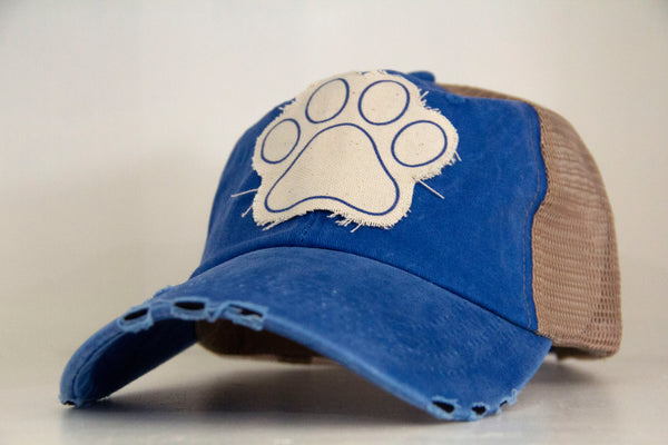 Paw Print-Trucker Hat -Kentucky Wildcats