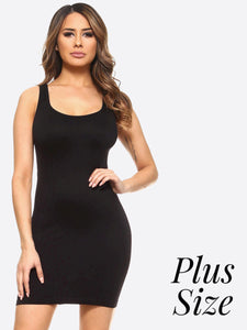 Seamless Extra Long Tank Top in Plus Size – The Blue Rose Ky ...
