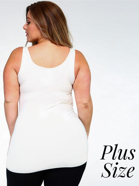 Seamless Tank Top in Plus Size-Multiple Colors