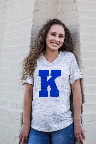 Big K-Kentucky-V Neck-Clothing-Sports-Team-vneck-Power K-Bluegrass State-K-Game Day-Blue-Apparel-University of Kentucky-Wildcats-BBN-Big Blue Nation-Wildcats-Cats-Big Blue-Power K