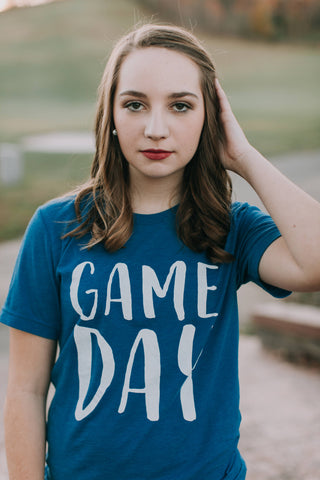 Game Day-Apparel-Bella Canvas-Graphic Tee-Game Day Ready-Women's Apparel-Mens Apparel-Women's-Mens-Clothing-University of Kentucky-UK-Blue Devils-Blue and White-School Colors-Kentucky Wildcats-Wildcat-Cats-Soccer-Football-Basketball-Team Shirt-Team Colors-Sports-Sports Team Tee-Sport