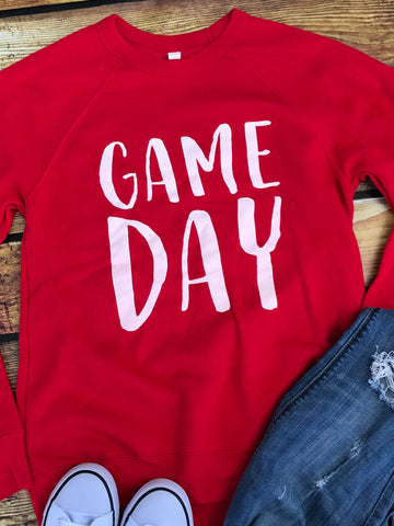 Game Day Sweatshirt-Red