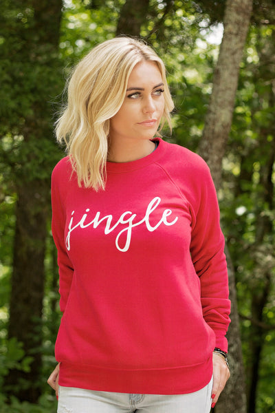 Jingle-Sweatshirt-Bella Canvas-Red-Super Soft-Jingle Bells-Holiday Sweatshirt-Holiday Favorite-Christmas-Red Sweatshirt-Ugle Sweater-Holiday Party Apparel-Clothing-Apparel-Gift-Perfect Gift-Favorite-Christmas sweatshirt for-Cute Christmas Sweat Shirt-Cute Christmas Shirt-Grapic Sweatshirt-Screen Printed-Christmas Party-Holiday-Travel-Holiday Travel