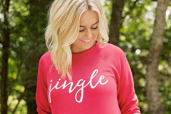 Jingle-Sweatshirt-Bella Canvas-Red-Super Soft-Jingle Bells-Holiday Sweatshirt-Holiday Favorite-Christmas-Red Sweatshirt-Ugle Sweater-Holiday Party Apparel-Clothing-Apparel-Gift-Perfect Gift-Favorite-Christmas sweatshirt for-Cute Christmas Sweat Shirt-Cute Christmas Shirt-Grapic Sweatshirt-Screen Printed-Christmas Party-Holiday-Travel-Holiday Travel-Unisex Fit-Men-Womens-Apparel-Clothing