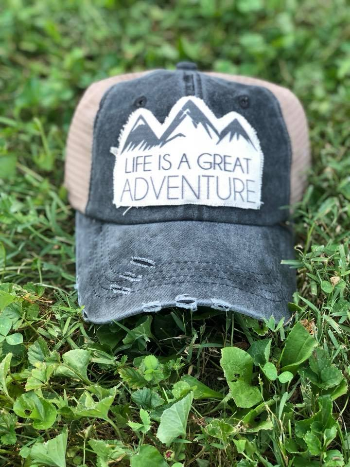 ... Life is a Great Adventure-Trucker Hat-Hat-Adventure-Travel-Moutains ... 802f3b0a699