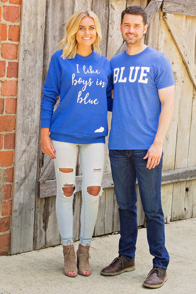 Blue-Kentucky-Graphic Tee-Apparel-Mens-Womens-Clothing-Tshirt-University of Kentucky-The Bluegrass State-BBN-Big Blue Nation-Mens Apparel-Bella Canvas