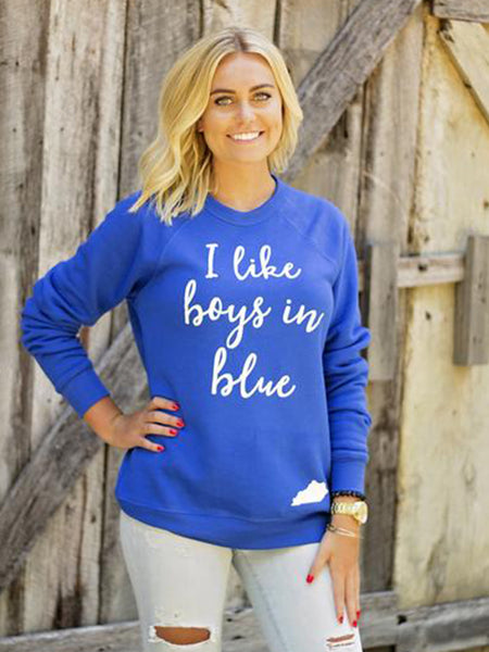 Kentucky Sweatshirt-Boys in Blue-Kentucky Wildcats-Kentucky-Bella Canvas
