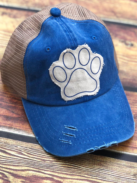 Paw Print-Kentucky-Wildcats-Dog Lovers-Dogs-Cats-Blue Grass State-Blue-University of Kentucky