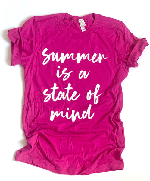 Summer is a State of Mind -Tshirt - Berry