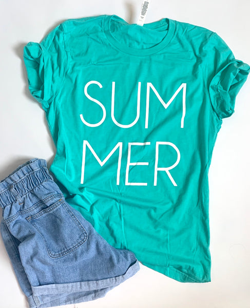 Summer-Tshirt - Sea Green - Teal