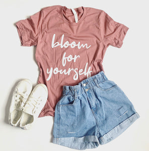 Bloom for Yourself - Tshirt - Mauve -Spring