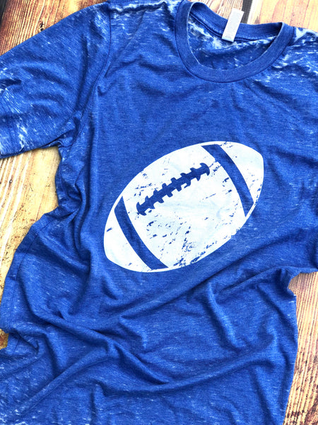 Football-Acid Wash-Kentucky Blue-Royal Blue-Blue-High School-College-Football-Season-Fall-Ready for Football-tailgating-Sport-Sports-Apparel-Mens-Womens-Clothing-Graphic Tee-Short Sleeve-Game Day-Screen Printed-Bluegrass State-University of Kentucky-Blue-Go Big Blue-BBN