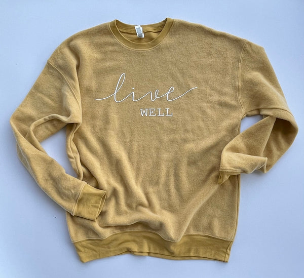 Live Well - Sweatshirt - Yellow - Bella Canvas