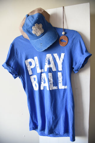 Play Ball Tee - Royal Blue