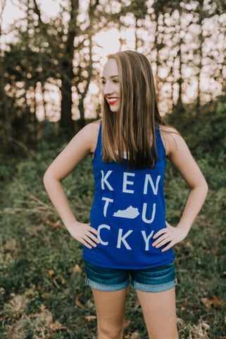 Kentucky Square - Tank - Royal Triblend - Workout Tank