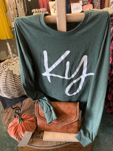Long Sleeve Kentucky Tee - KY - Green - Tshirt