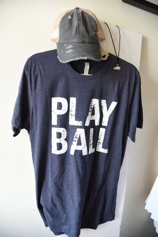 Play Ball Tee - Heathered Navy