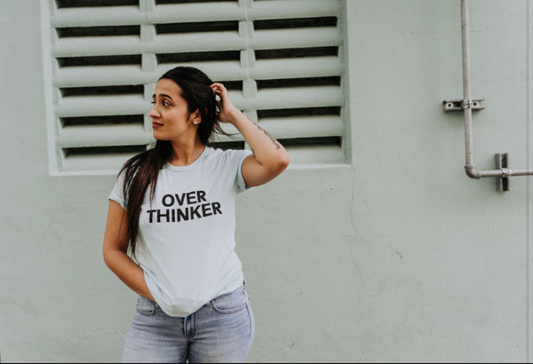 Over Thinker - Tshirt - Light Blue - Mini Collection - Inspirational