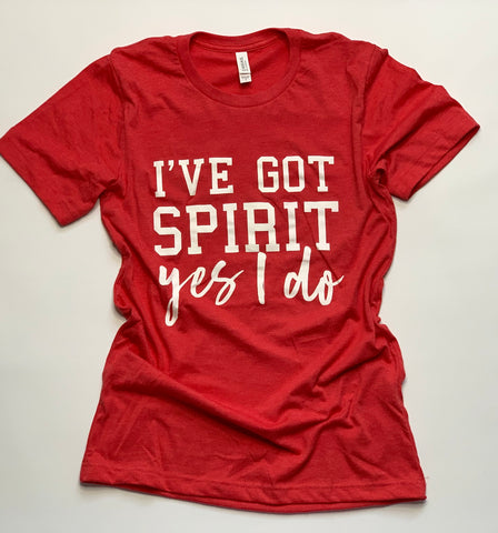 Sports Mom - I've Got Spirit- Game Day- Red- Tshirt - Louisville