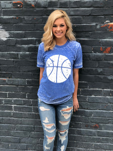 Basketball Shirt - Blue - Wildcat Graphic Tee - Kentucky Acid Wash Shirt