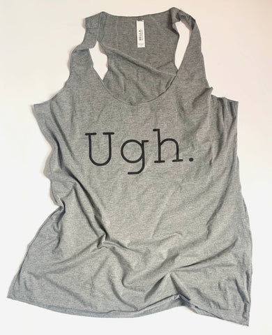 UGH - Tank - Gray Triblend - Workout Tank