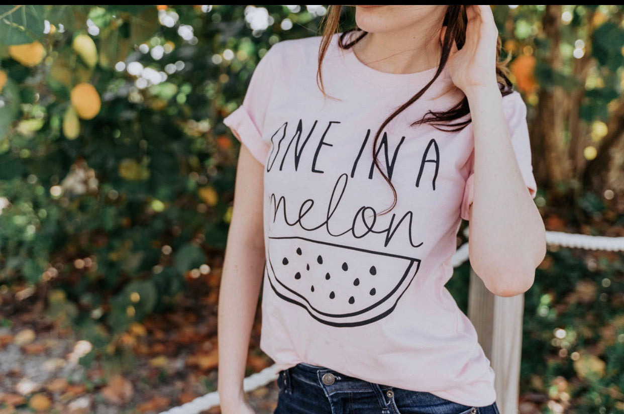 One in a Melon - Tshirt - Pink - Mini Collection