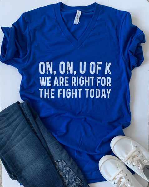 Kentucky Fight Song - V Neck Tshirt - Wildcats