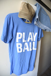 Play Ball Tee - Columbia Blue