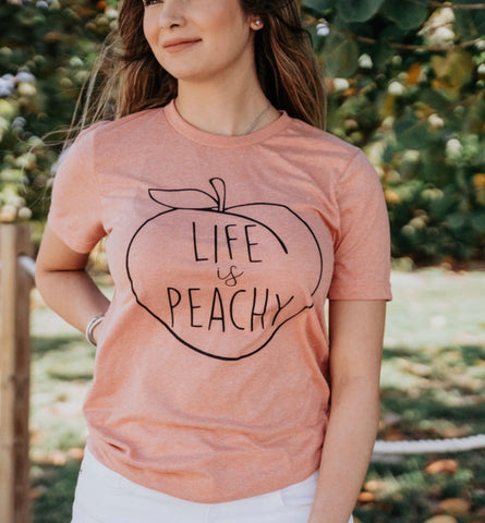 Life is Peachy - Tshirt - Peach - Mini Collection