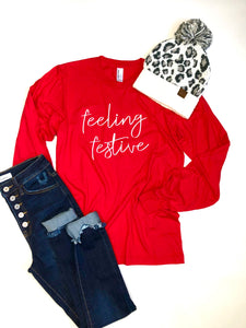 Feeling festive- long sleeve shirt