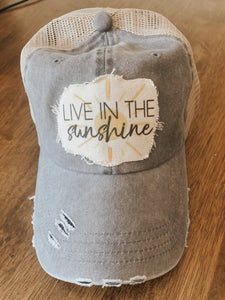 Live in the Sunshine - Trucker Hat - Summer Raggy Hat