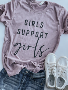Girls Support Girls- Tshirt - Heather Orchid