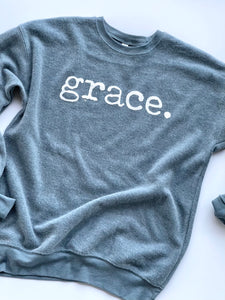 Grace - Sweatshirt - Slate Blue - Bella Canvas