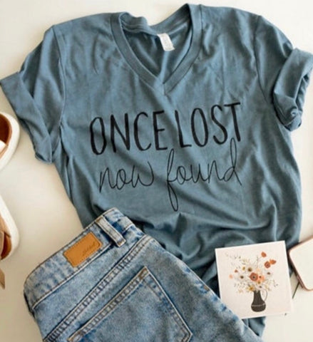 Amazing Grace - Tshirt - Once Lost Now Found