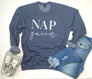 Nap Queen - Sweatshirt - Heather Navy