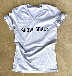 Show Grace - Gray Vneck