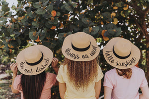 Do Not Disturb - Wide Brim Beach Hat - Sun - Straw
