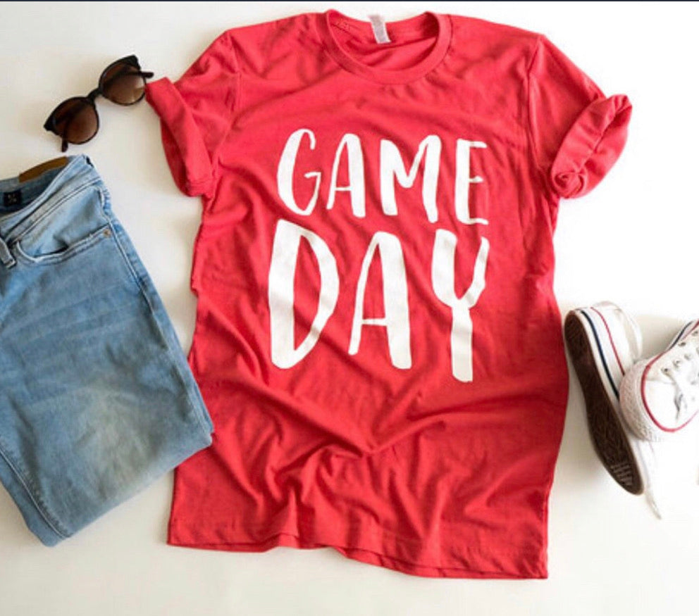 Game Day-Red-Tshirt -Louisville