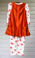 Enchanting Pumpkin Orange Dazzle Stripe Jumper. Leggings and Top - Size 4