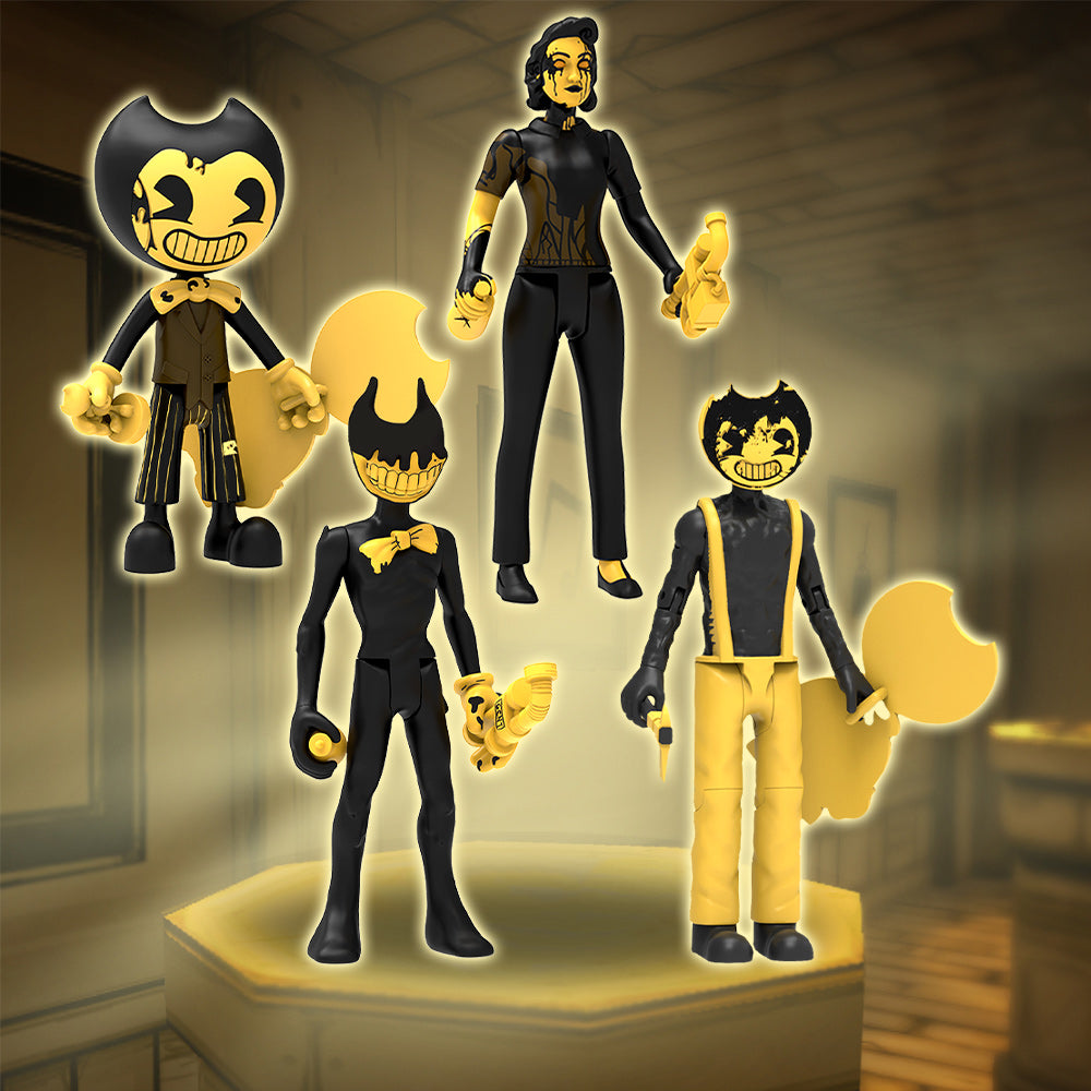 Action Figure Set (Series 3) - Dark Revival: Cartoon Bendy, Sammy, Ink Audrey and Ink Bendy