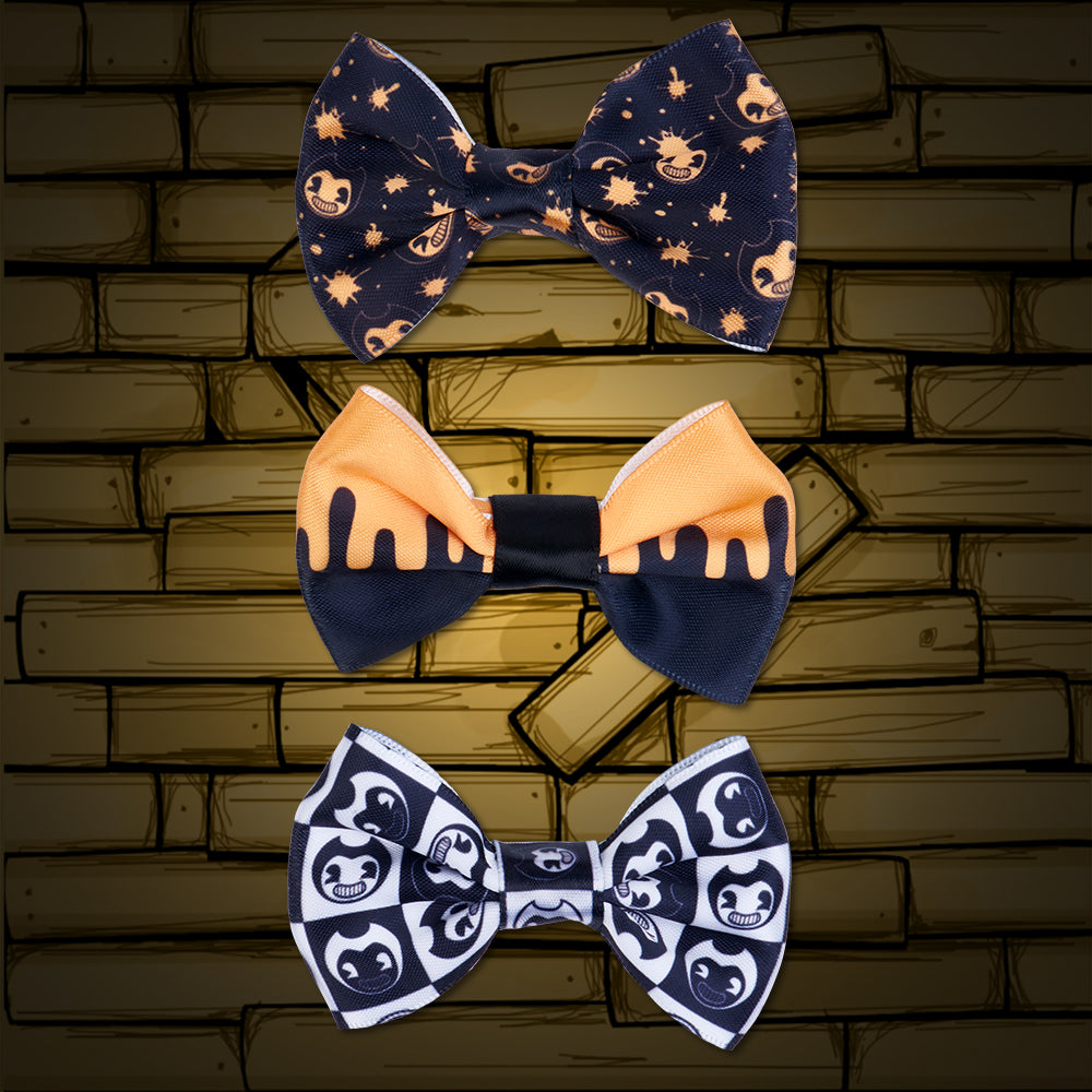 Bendy Hair Bows 3 Pack Bendy And The Ink Machine