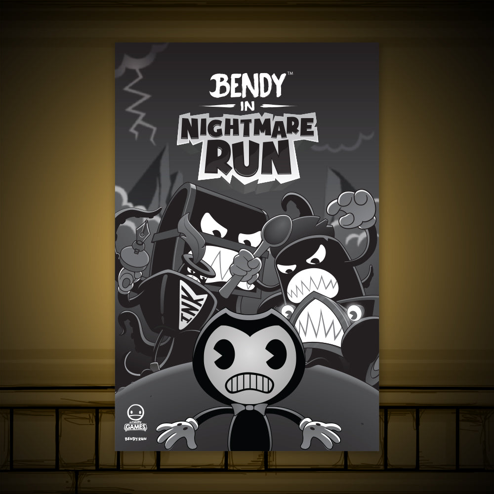 Bendy In Nightmare Run Poster