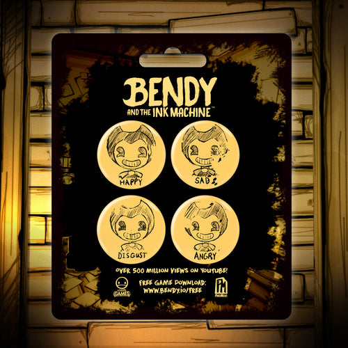 Bendy Model Sheet Buttons - 4 Pack