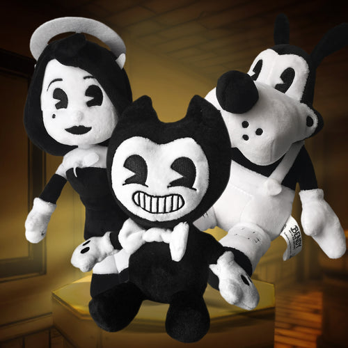 Bendy, Alice & Boris Beanie Plush Bundle with Squeaker (ONLINE EXCLUSIVE)