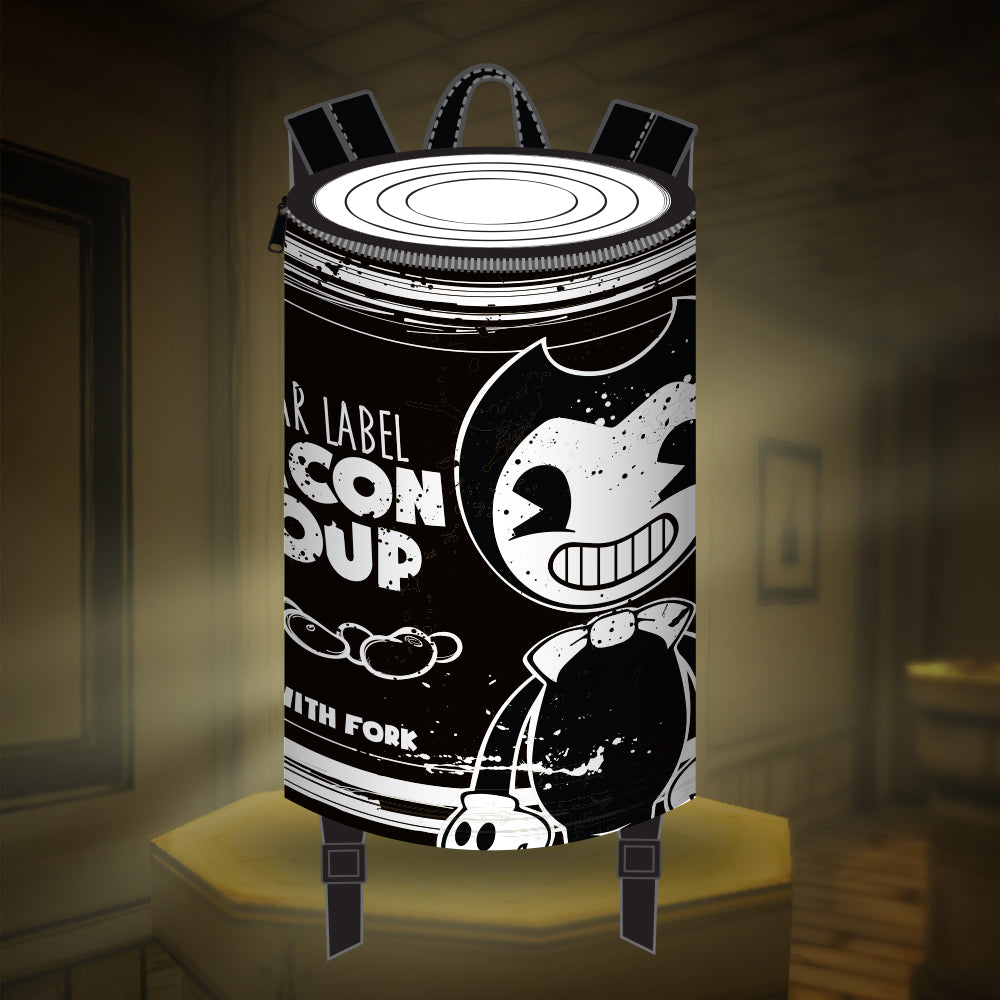 Bendy Bacon Soup Can Backpack