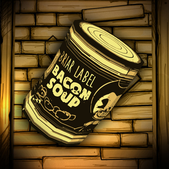 Bacon Soup Can Label Sticker