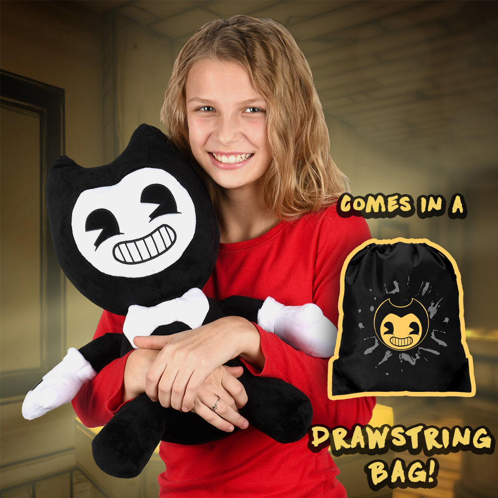 Bendy Jumbo Plush w/ Drawstring Bag