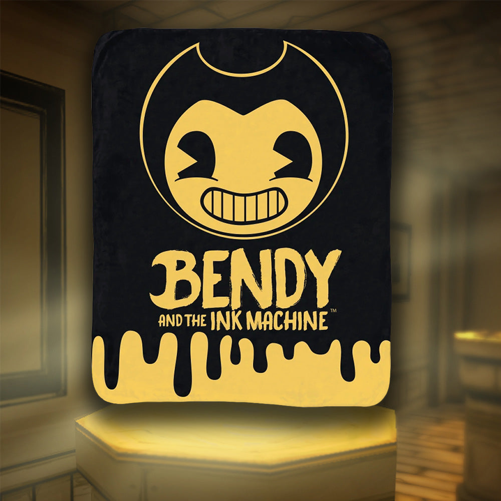 Bendy Logo Drip Fleece Blanket