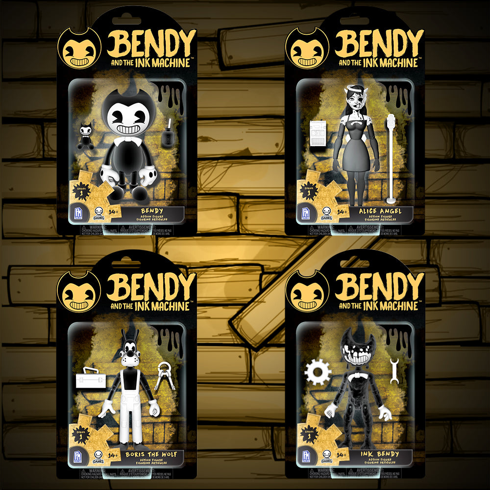 Bendy and the Ink Machine  Collectible Figure Pack 4 Figures Series 1